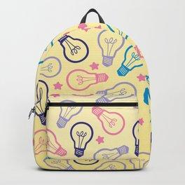 Cute Pastels Light bulb Pattern Backpack