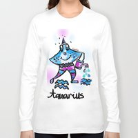 aquarius Long Sleeve T-shirts featuring Aquarius  by sladja