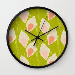 Climbing Vines Lime Wall Clock