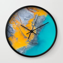 Abstract of minerals Wall Clock