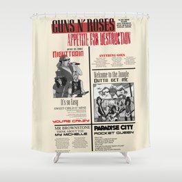 Guns N Roses Shower Curtain
