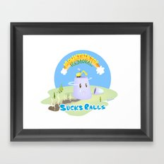 Mt. Top Removal Sucks Balls Framed Art Print