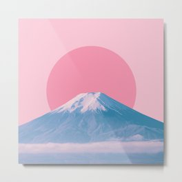Fuji in red dot Metal Print