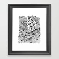 capsized Framed Art Print