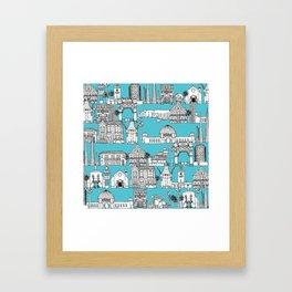 Los Angeles blue Framed Art Print