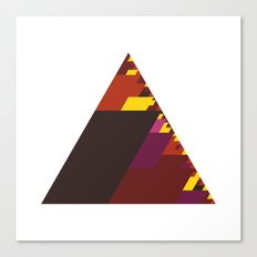 #407 The burning triangle – Geometry Daily Canvas Print