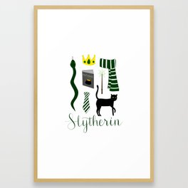 The House of Slytherin Framed Art Print