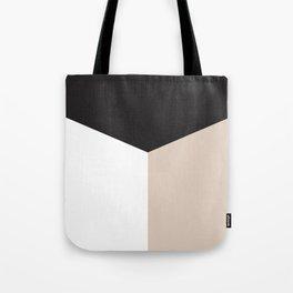 Blocked Sand Tote Bag