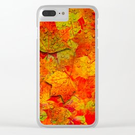 Indian Summer V - Autum Fall Colorful leaves Season #Society6 Clear iPhone Case