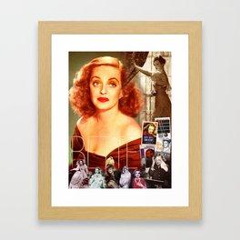 Bette Davis Collage Portrait Framed Art Print