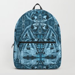 Haida Mask: Digital Quilt Design Backpack