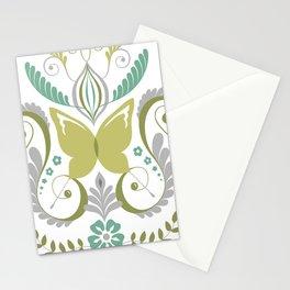Butterfly Damask - Spring Mod Stationery Cards