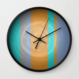 Tree Ring Art Wall Clock
