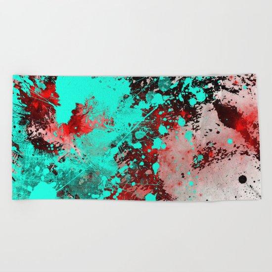 Paint With Feeling Beach Towel