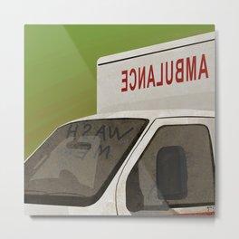 wash me - ambulance Metal Print