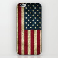 american flag iPhone & iPod Skins featuring American Flag by Abbie :)
