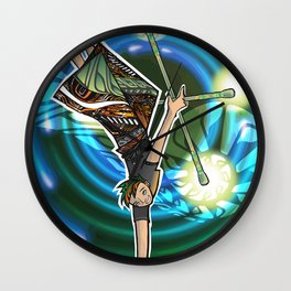 double staff guy Wall Clock