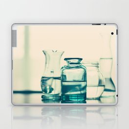 Crystal jars and bottles (Retro and Vintage Still Life Photography) Laptop & iPad Skin