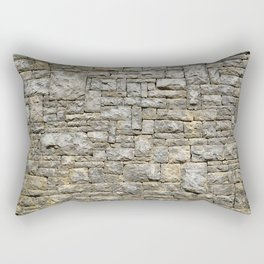 Granite Brick Wall Rectangular Pillow