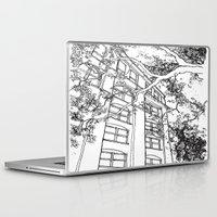 jfk Laptop & iPad Skins featuring Schoolbook Depository  by ArchiNERD
