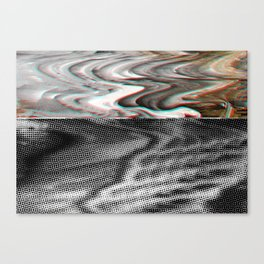 White Noise / Landscape / Gold Glitch #3 Canvas Print
