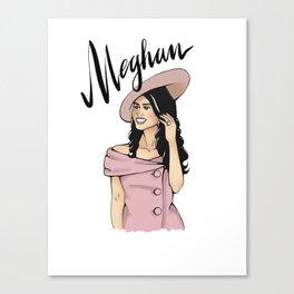 Meghan Fashion Canvas Print