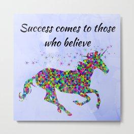 Success Unicorn Metal Print