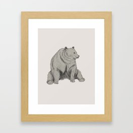 Chummy Bear Framed Art Print