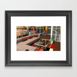 Loft Apartment Theatre Room  Framed Art Print