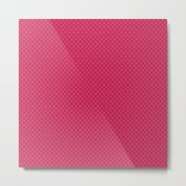 Cerise Pink Scales Pattern Design Metal Print