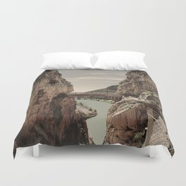 """""""The most dangerous trail in the world II"""". El Caminito del Rey  Duvet Cover"""