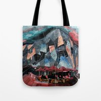 melbourne Tote Bags featuring Melbourne by sladja