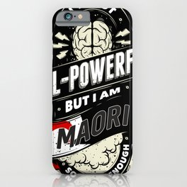 Maori Pride Region and State iPhone Case