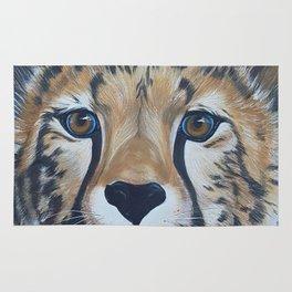Cheetas, acrylic on canvas Rug