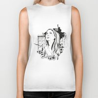 amy pond Biker Tanks featuring Come Along Pond by Fedi