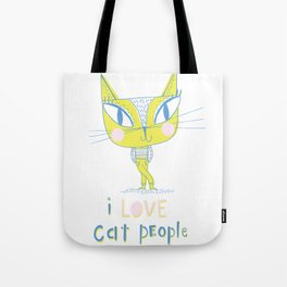 I LOVE Cat People - light Tote Bag