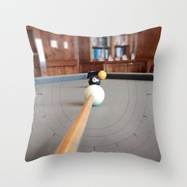 Eight Ball Corner Pocket Throw Pillow