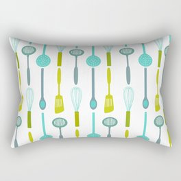 AFE Kitchen Utensils Pattern Rectangular Pillow