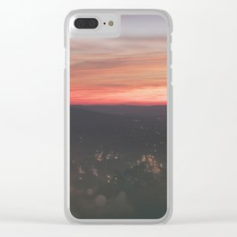 RISE AND HIKE Clear iPhone Case