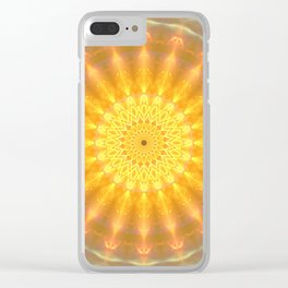 Gold Medallion Mandala Clear iPhone Case