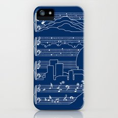 The Moonlight Sonata Blue Slim Case iPhone SE