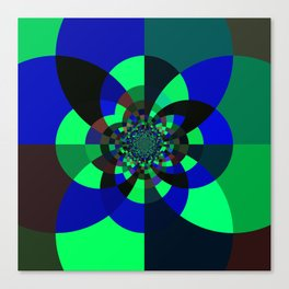Green Blue Kaleidoscope Canvas Print