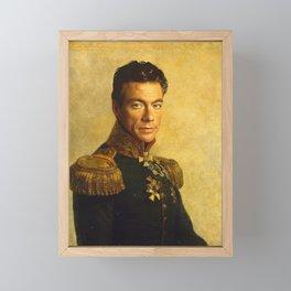 Jean Claude Van Damme - replaceface Framed Mini Art Print