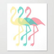 The Three Flamingos Canvas Print