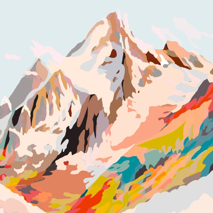 glass mountains Duvet Cover
