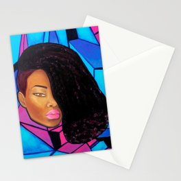 Cool - Afro Natural Hair Art Stationery Cards