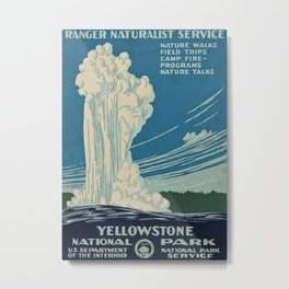 Yellowstone Works Progress Administration Metal Print