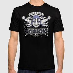 Call me Captain! MEDIUM Mens Fitted Tee Black