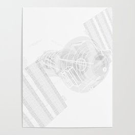 Explorer White and Grey Poster