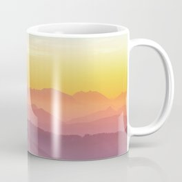 sky blue yellow orange purple Coffee Mug